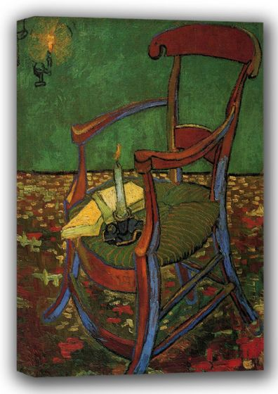 Van Gogh, Vincent: Paul Gauguin's Armchair. Fine Art Canvas. Sizes: A4/A3/A2/A1 (001530)